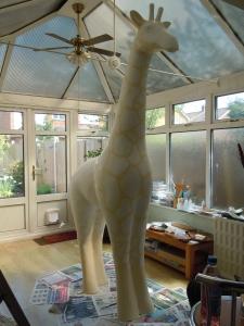 girafffe painting in progress